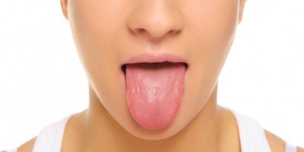 A língua é um espelho da saúde.